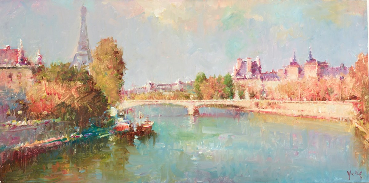Springtime in Paris by helios -  sized 16x8 inches. Available from Whitewall Galleries